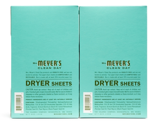 Boxed Com Mrs Meyer S Dryer Sheets 2 X 80 Sheets Basil