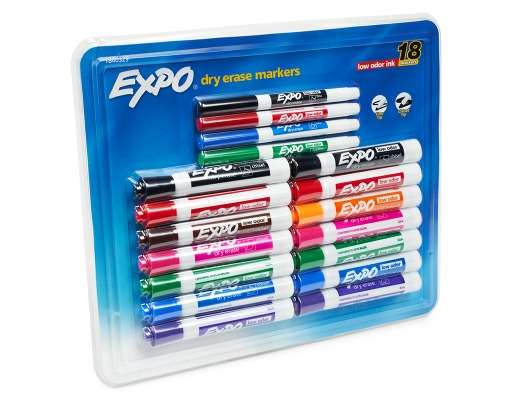 Boxed.com : Expo Dry Erase Markers 14 Chisel Tip + 4 Fine Tip