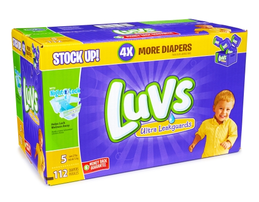 Boxed Com Luvs 112 Diapers Size 5