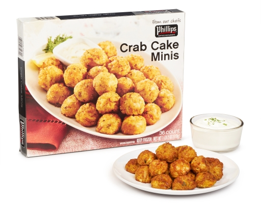 Boxed Com Phillips Crab Cake Minis 36 Pieces