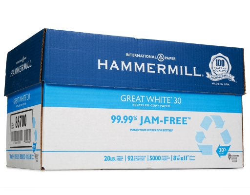 [D] Hammermill Great White Recycled Copy Paper