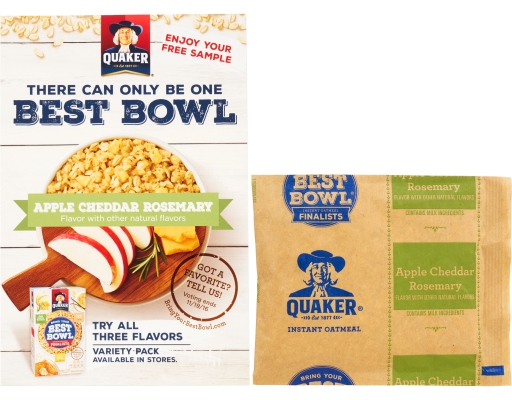 ... .com : [S] Quaker Instant Oatmeal 1 Packet - Apple Cheddar Rosemary