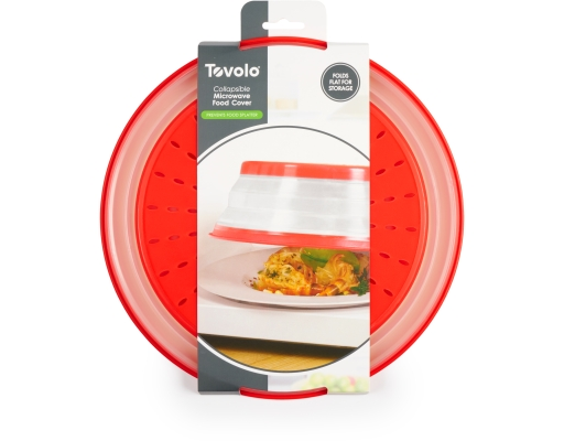 Boxed Com Tovolo Collapsible Microwave Food Cover Folds
