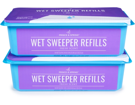Boxed com prince amp spring wet sweeper refills 60 count fresh scent