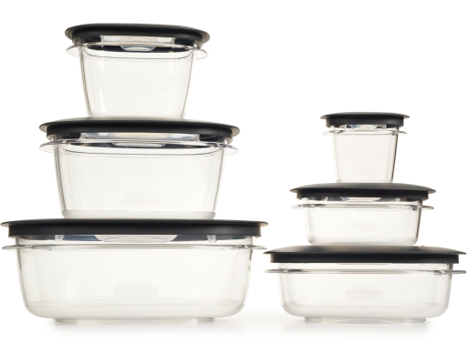 Rubbermaid premier food storage 30 piece set for Case container 974