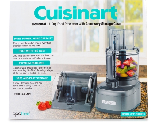 Cuisinart Elemental 11 Cup Food Processor With Accessory Storage Case |  Boxed