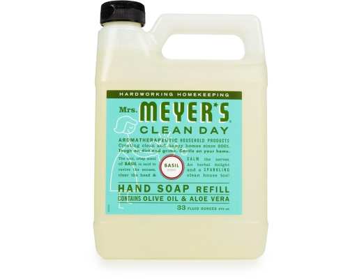 Mrs Meyer S Liquid Hand Soap Refill 33 Oz Basil Boxed