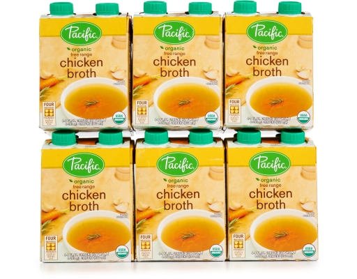Pacific Foods Organic Chicken Broth 24 X 8 Oz Free Range Boxed