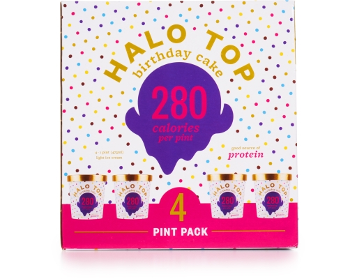 Halo Top Bday Cake Ice Cream 4 X 1 Pint