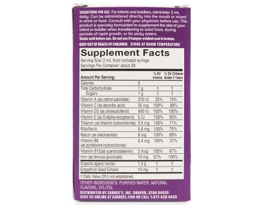 Zarbee S Naturals Baby Multivitamin With Iron Supplement 2